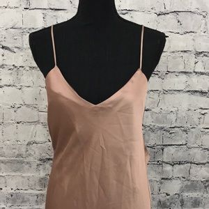 Topshop Satin Cowl Back Dress